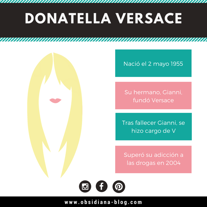 Donatella Versace Fashion Biography biografía diseñador de modas