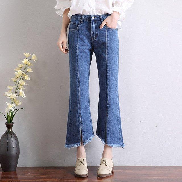 Moda Exoerimentar Tipo de productos de moda básicos key item hot item artículos riesgo pantalones acampanados