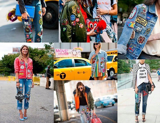 Tendencia moda Parches denim