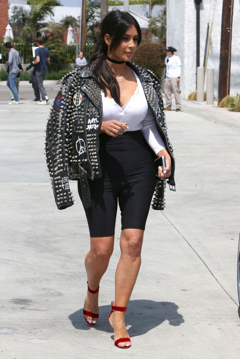 Bike Shorts statement short shorts cortos tendencia 2018 kim kardashian