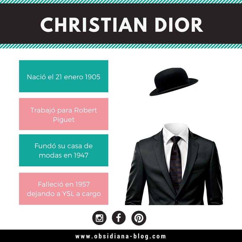 Christian Dior Biografía modas diseño fashion design