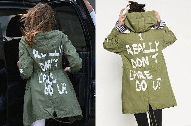 Melania Trump chaqueta polémica