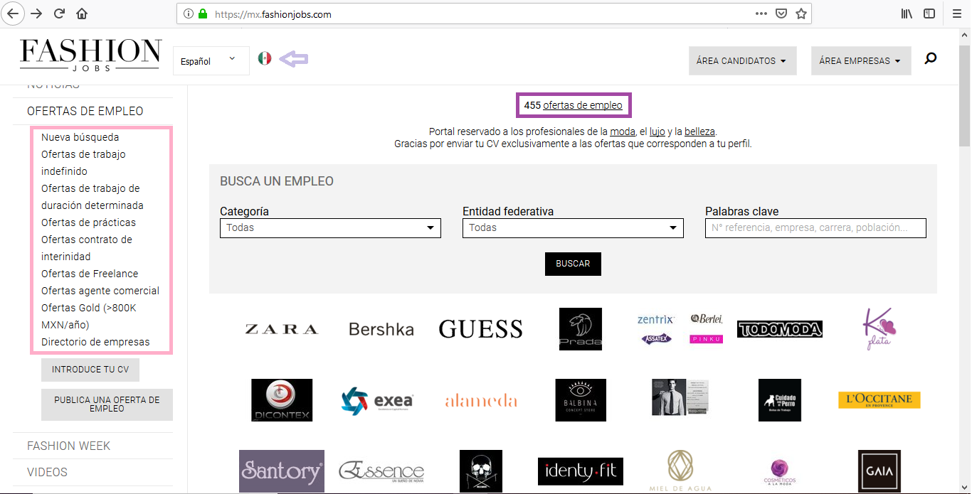 cómo encontrar trabajo en moda Fashion Jobs
