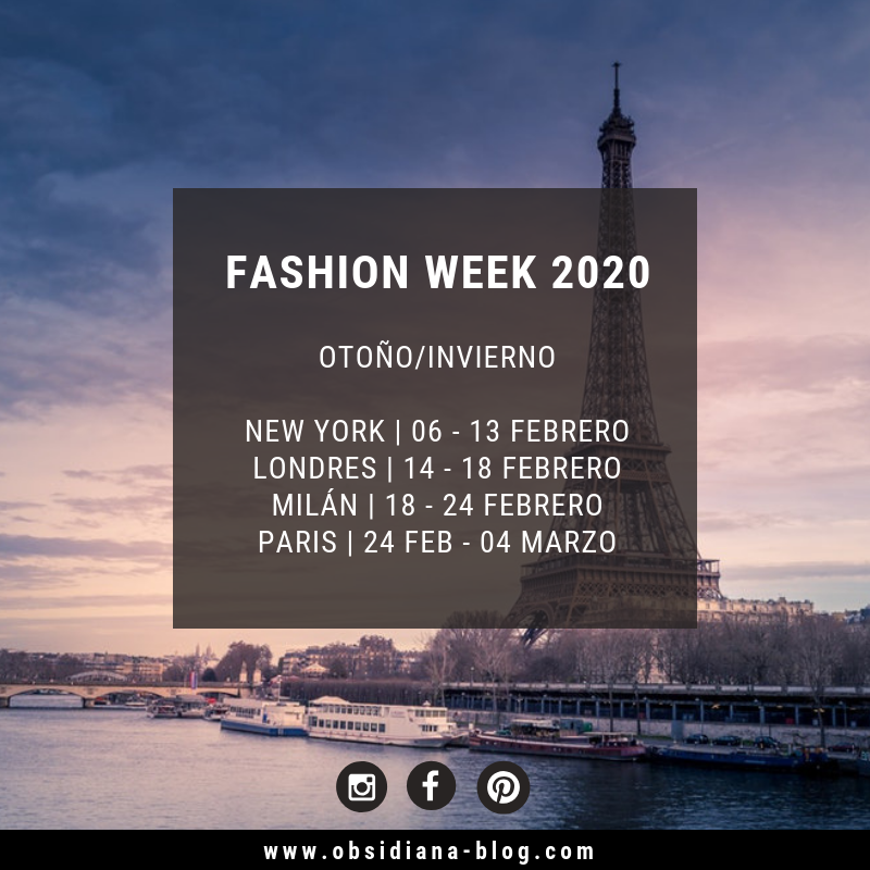 Fashion Week 2020 Semana de la Moda 2020