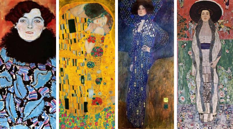 Moda inspirada en Arte Gustav Klimt Dior