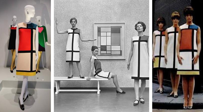 moda inspirada en arte yves saint laurent